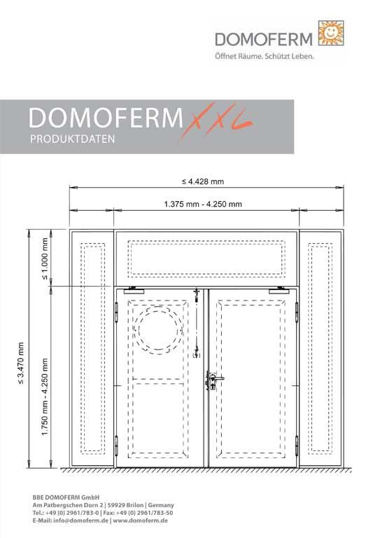 Domoferm XXL Produktdaten